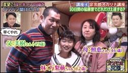 後藤拓実、妹、姉